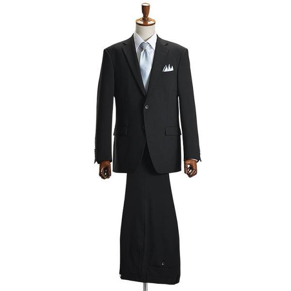フォーマルスーツ 礼服 メンズ 2ツボタン 結婚式 アジャスター付 ブラック 黒 スリムスーツ ブラックフォーマル 激安 suit|suit-style|14