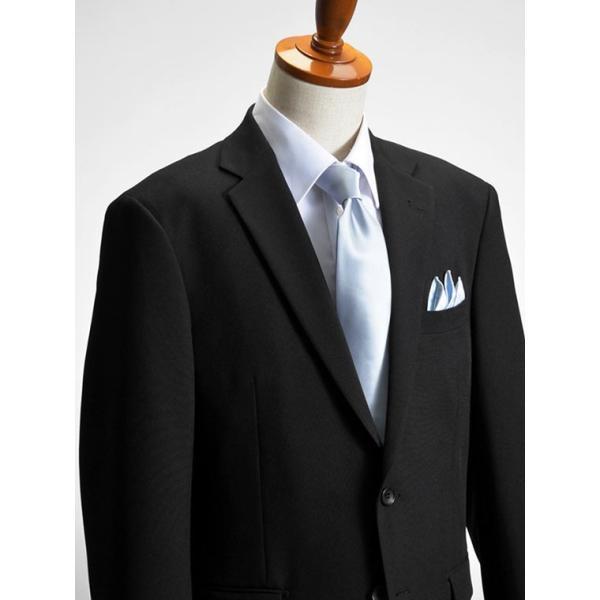 フォーマルスーツ 礼服 メンズ 2ツボタン 結婚式 アジャスター付 ブラック 黒 スリムスーツ ブラックフォーマル 激安 suit|suit-style|15