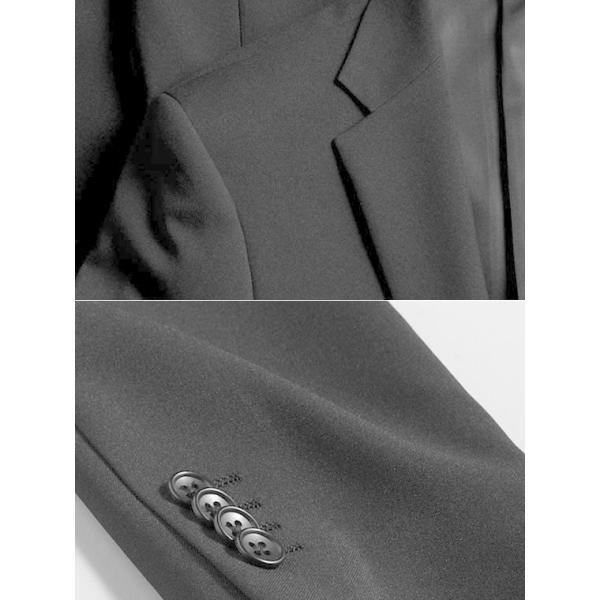 フォーマルスーツ 礼服 メンズ 2ツボタン 結婚式 アジャスター付 ブラック 黒 スリムスーツ ブラックフォーマル 激安 suit|suit-style|16