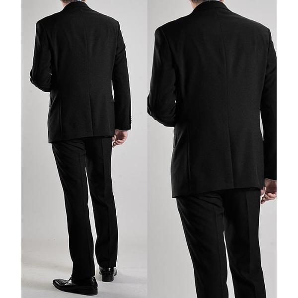 フォーマルスーツ 礼服 メンズ 2ツボタン 結婚式 アジャスター付 ブラック 黒 スリムスーツ ブラックフォーマル 激安 suit|suit-style|07