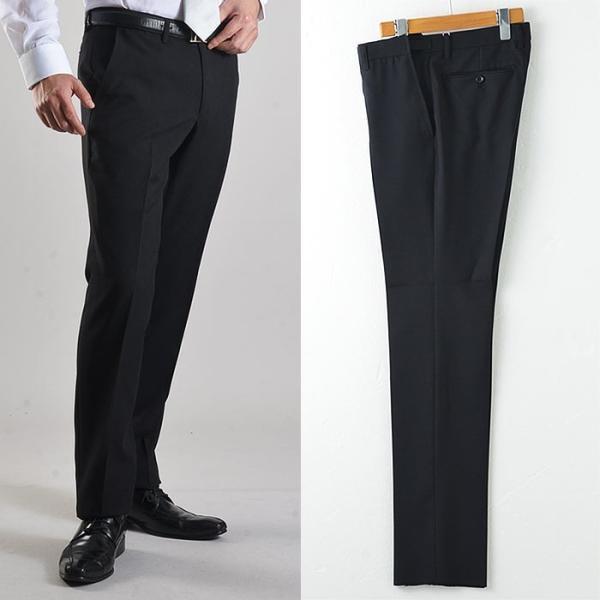 フォーマルスーツ 礼服 メンズ 2ツボタン 結婚式 アジャスター付 ブラック 黒 スリムスーツ ブラックフォーマル 激安 suit|suit-style|08