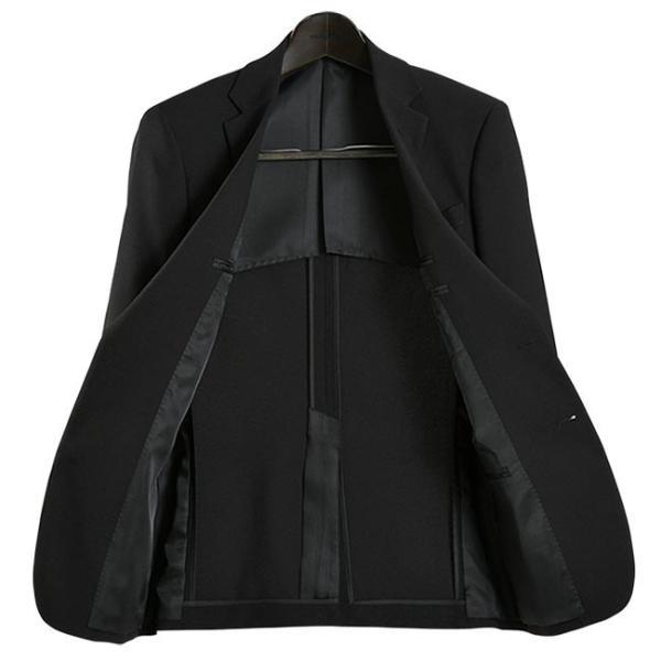 フォーマルスーツ 礼服 メンズ 2ツボタン 結婚式 アジャスター付 ブラック 黒 スリムスーツ ブラックフォーマル 激安 suit|suit-style|09