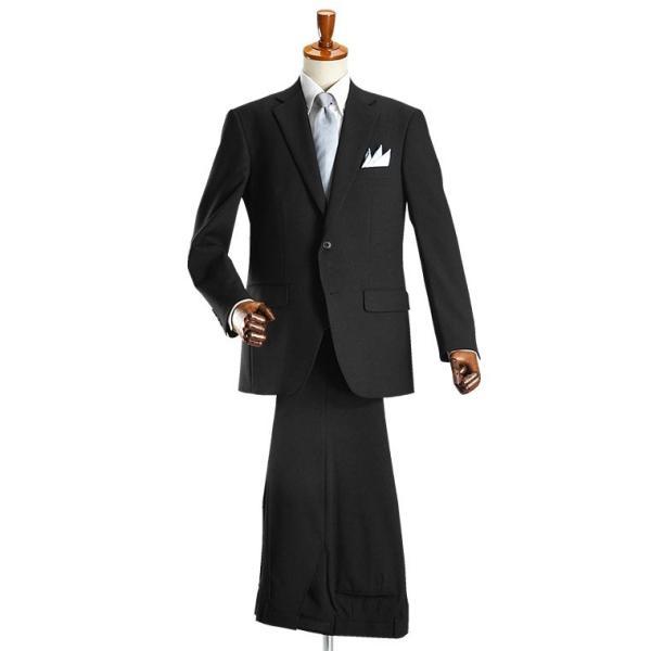 フォーマルスーツ メンズ 礼服 ブラックスーツ 喪服 2ツボタン アジャスター付 洗えるパンツウォッシャブル オールシーズン|suit-style|11