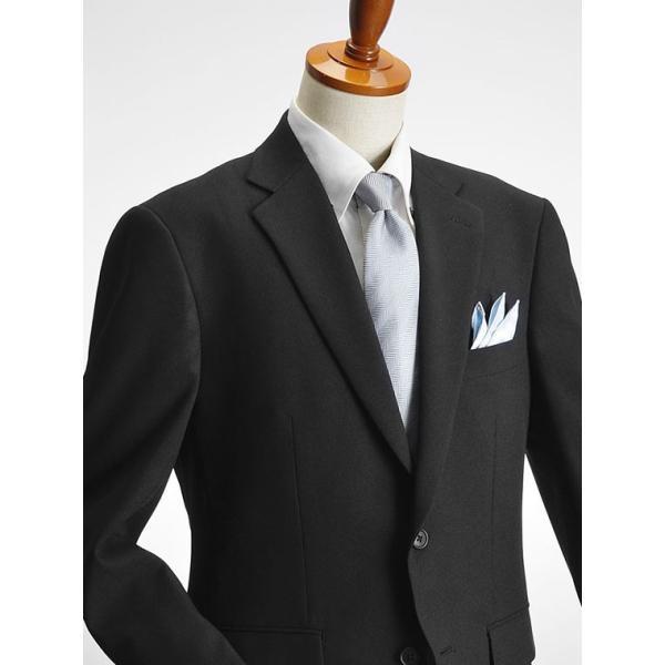 フォーマルスーツ メンズ 礼服 ブラックスーツ 喪服 2ツボタン アジャスター付 洗えるパンツウォッシャブル オールシーズン|suit-style|12