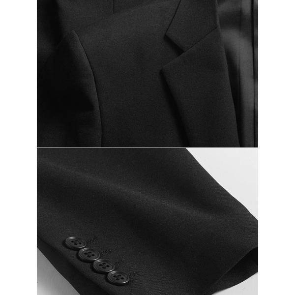 フォーマルスーツ メンズ 礼服 ブラックスーツ 喪服 2ツボタン アジャスター付 洗えるパンツウォッシャブル オールシーズン|suit-style|13