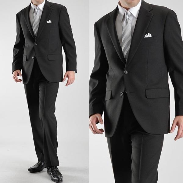 フォーマルスーツ メンズ 礼服 ブラックスーツ 喪服 2ツボタン アジャスター付 洗えるパンツウォッシャブル オールシーズン|suit-style|14