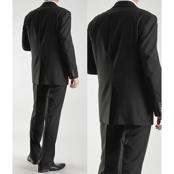 フォーマルスーツ メンズ 礼服 ブラックスーツ 喪服 2ツボタン アジャスター付 洗えるパンツウォッシャブル オールシーズン|suit-style|15
