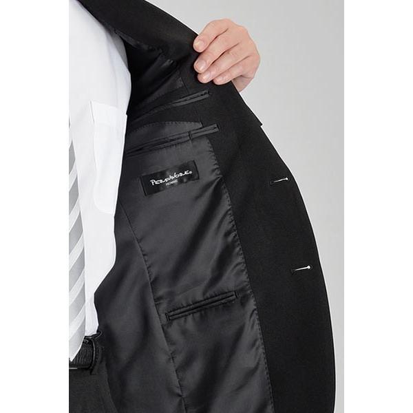 フォーマルスーツ メンズ 礼服 ブラックスーツ 喪服 2ツボタン アジャスター付 洗えるパンツウォッシャブル オールシーズン|suit-style|16