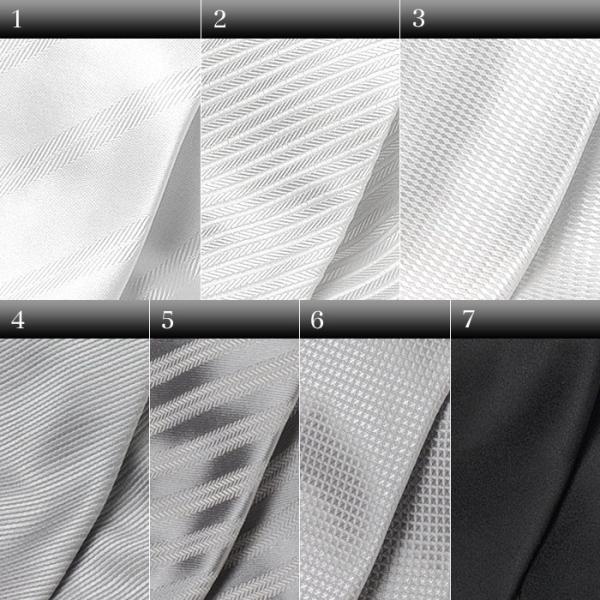 フォーマルネクタイ 8cm幅 礼装タイ セレモニー ホワイト シルバー ブラック 白 黒 冠婚葬祭 suit-style 02