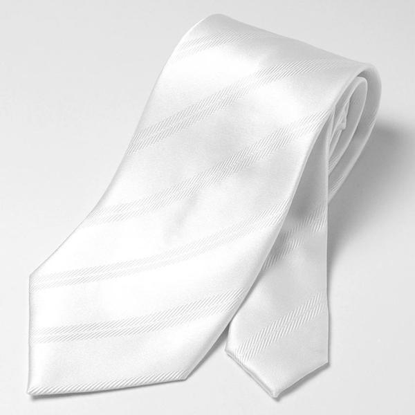 フォーマルネクタイ 8cm幅 礼装タイ セレモニー ホワイト シルバー ブラック 白 黒 冠婚葬祭 suit-style 03