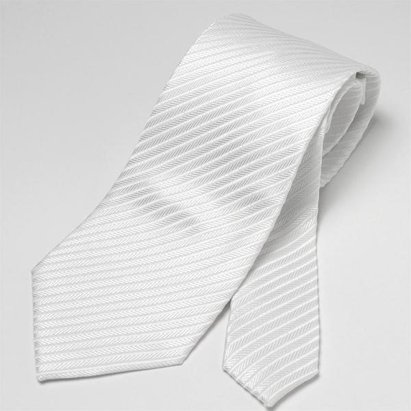 フォーマルネクタイ 8cm幅 礼装タイ セレモニー ホワイト シルバー ブラック 白 黒 冠婚葬祭 suit-style 04