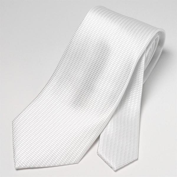 フォーマルネクタイ 8cm幅 礼装タイ セレモニー ホワイト シルバー ブラック 白 黒 冠婚葬祭 suit-style 05