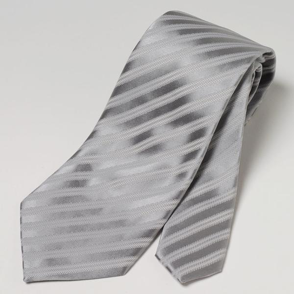 フォーマルネクタイ 8cm幅 礼装タイ セレモニー ホワイト シルバー ブラック 白 黒 冠婚葬祭 suit-style 07
