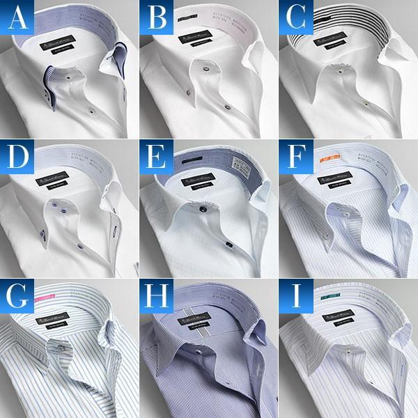 ワイシャツ 長袖 形態安定加工 形状安定 メンズ ドレスシャツ Yシャツ【2着よりどり6,500円 送料無料!】|suit-style|02