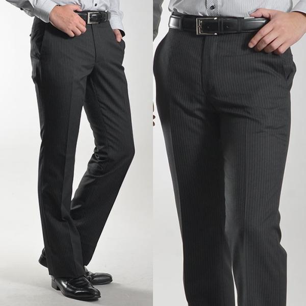 ブーツカット スラックス メンズ ビジネス ノータック パンツ スリム ウォッシャブル 細身 送料無料 suit-style 11