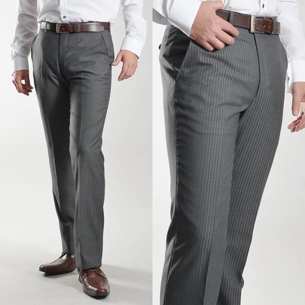 ブーツカット スラックス メンズ ビジネス ノータック パンツ スリム ウォッシャブル 細身 送料無料 suit-style 13