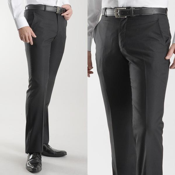 ブーツカット スラックス メンズ ビジネス ノータック パンツ スリム ウォッシャブル 細身 送料無料 suit-style 15