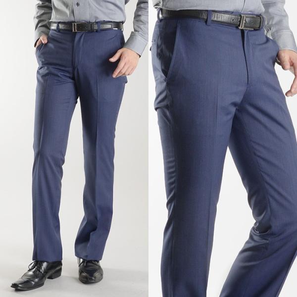 ブーツカット スラックス メンズ ビジネス ノータック パンツ スリム ウォッシャブル 細身 送料無料 suit-style 17