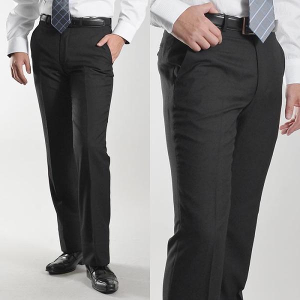 ブーツカット スラックス メンズ ビジネス ノータック パンツ スリム ウォッシャブル 細身 送料無料 suit-style 09
