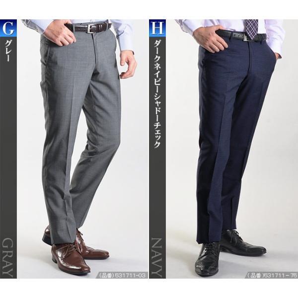 スラックス スリム メンズ COOLMAX クールマックス ノータック ローライズ ウォッシャブル クールビズ 春夏 夏|suit-style|12