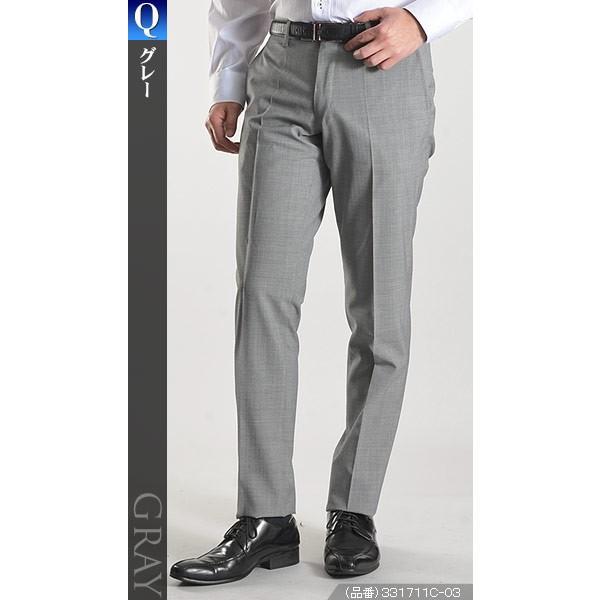 スラックス スリム メンズ COOLMAX クールマックス ノータック ローライズ ウォッシャブル クールビズ 春夏 夏|suit-style|17