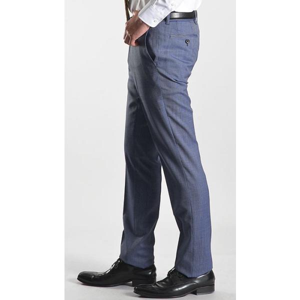 スラックス スリム メンズ COOLMAX クールマックス ノータック ローライズ ウォッシャブル クールビズ 春夏 夏|suit-style|18