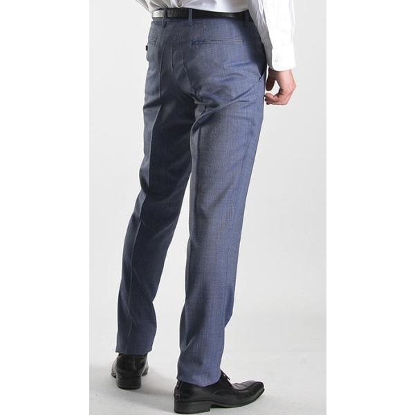 スラックス スリム メンズ COOLMAX クールマックス ノータック ローライズ ウォッシャブル クールビズ 春夏 夏|suit-style|19