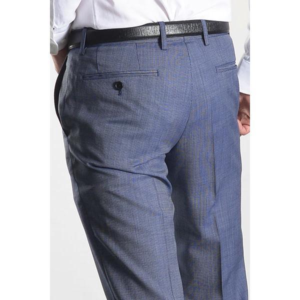 スラックス スリム メンズ COOLMAX クールマックス ノータック ローライズ ウォッシャブル クールビズ 春夏 夏|suit-style|20
