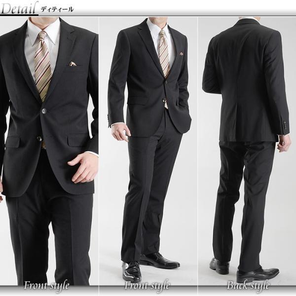 スーツ メンズ ビジネススーツ 紳士服 秋冬物 スリム スーツ リクルートスーツ メンズ ビジネス 就活 激安 2つボタン 送料無料|suit-style|03