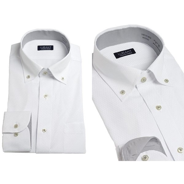 Yシャツ ビジネス 形状記憶 しわになりにくい 形態安定 ワイシャツ 長袖 メンズ 白シャツ|suit-style|15
