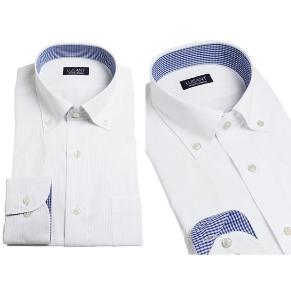 Yシャツ ビジネス 形状記憶 しわになりにくい 形態安定 ワイシャツ 長袖 メンズ 白シャツ|suit-style|17