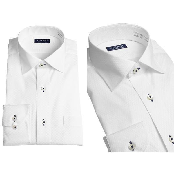 Yシャツ ビジネス 形状記憶 しわになりにくい 形態安定 ワイシャツ 長袖 メンズ 白シャツ|suit-style|07