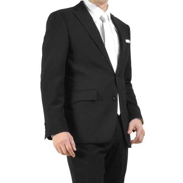 サマーフォーマルスーツ 礼服 ブラックスーツ アジャスター付 メンズ シングル 2ツボタン 喪服 結婚式 上下洗える 激安 夏物 送料無料|suitbeat|07
