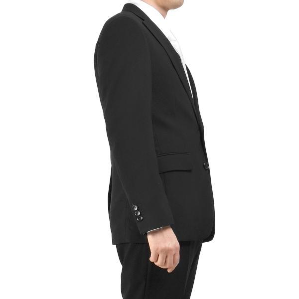 サマーフォーマルスーツ 礼服 ブラックスーツ アジャスター付 メンズ シングル 2ツボタン 喪服 結婚式 上下洗える 激安 夏物 送料無料|suitbeat|08