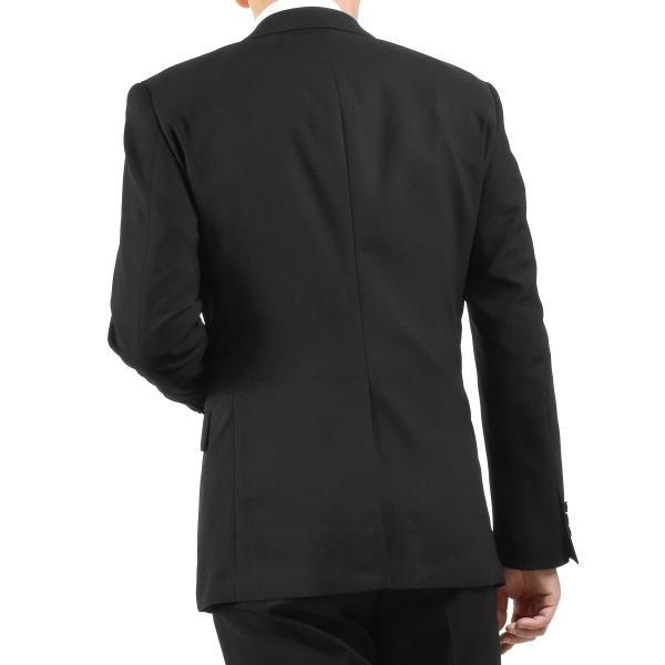 サマーフォーマルスーツ 礼服 ブラックスーツ アジャスター付 メンズ シングル 2ツボタン 喪服 結婚式 上下洗える 激安 夏物 送料無料|suitbeat|09