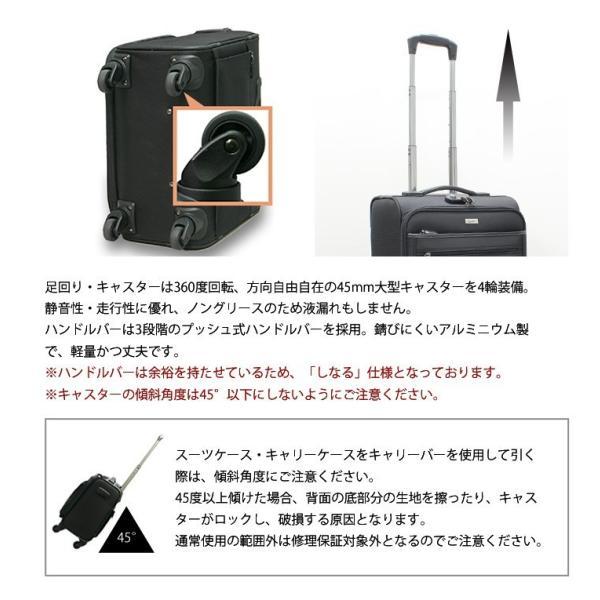 キャリーバッグ 機内持ち込み ビジネス ソフト ビータスBSC-20 4輪 キャリケース 小型 軽量 横型 TSAロック搭載 半年修理サービス付 suitcasekoubou 04