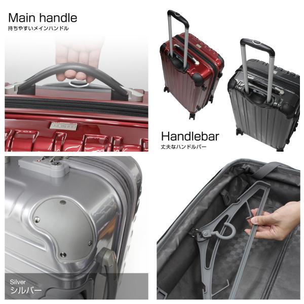 スーツケース 人気 軽量 海外旅行 Mサイズ 5〜7泊用 1年修理サービス付 TSAロック搭載 シェルポッドHZ-500|suitcasekoubou|05