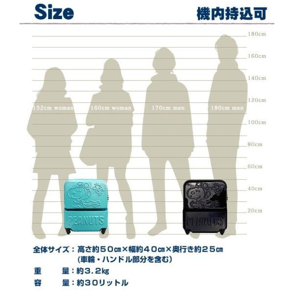 スーツケース スヌーピー TSAジッパーキャリー フライングエース 機内持込可/スーツケース/ハードキャリー/ファスナー/旅行用品/30L/VSN-0056 suitcasekoubou 06
