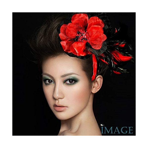 コサージュ 入学式 コサージュ 成人式 2way ヘッドドレス フェーザー コサージュ 大輪 髪飾り fhsc18002rdbk