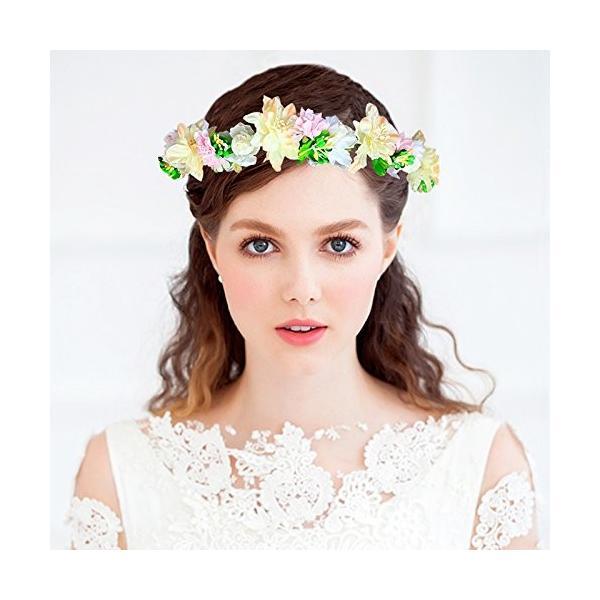 花かんむり 花冠 花かんむり ヘッドドレス 髪飾り コサージュ ウエディング ドレス花冠 fhkan010pkyw
