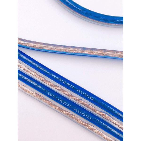 LRセットバナナプラグ加工済 200芯(×2) スピーカー ケーブル 完成品ハンダ済み 青 2本1組セット (1.5m)