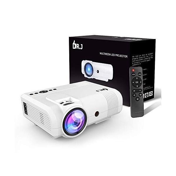 DR.J 小型プロジェクター 2600lm 1080P対応 スピーカーが二つ内蔵 スマホ/パソコン/タブレット/ゲーム機/DVDプレイヤー/ suityuugekka 10
