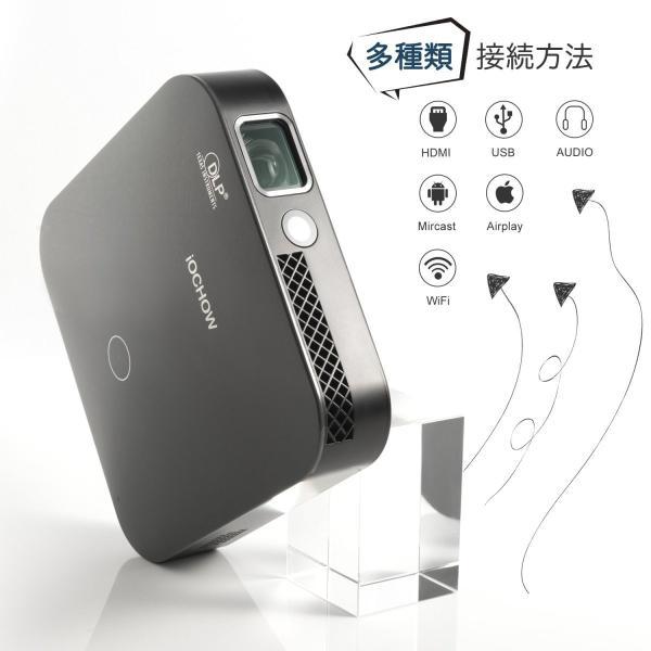 iOCHOW iO4 ミニ プロジェクター 小型 DLP 3000 ルーメン 1080PフルHD対応 1280*720解像度 自動台形補正|suityuugekka|02