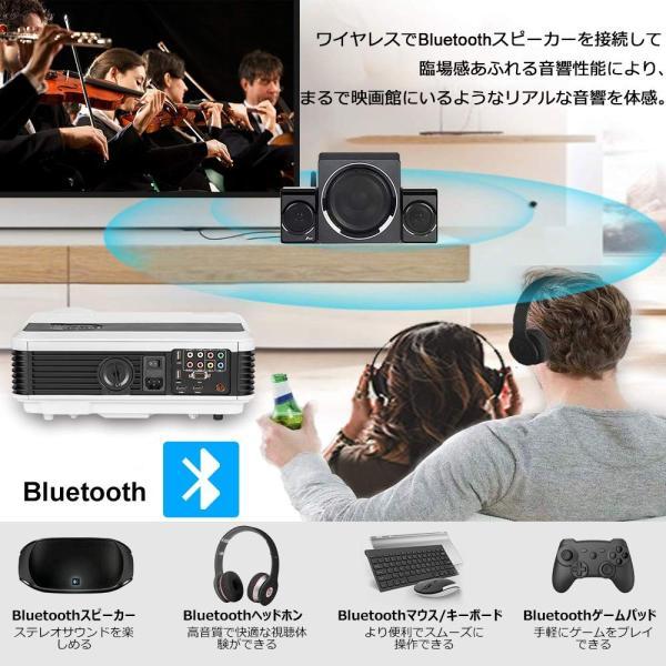 プロジェクターAndroid6.0 wifi接続 Bluetooth機能 家電安全PSE 3900ルーメンフルHD 1080p入力対応 ホー