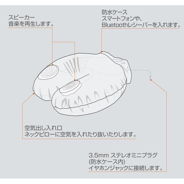 フォースメディア ネックピロー ピンク W37×D30×H13cm(空気を入れた状態)