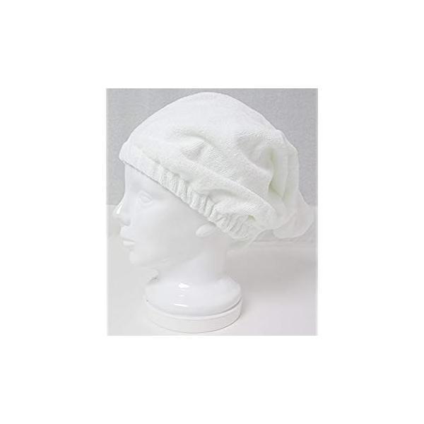 日本製 泉州タオル 瞬間吸水 ヘアーキャップ ホワイト 頭回り約40×62cm SKKS-150|suityuugekka|09