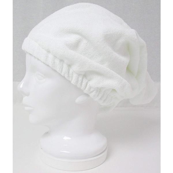 日本製 泉州タオル 瞬間吸水 ヘアーキャップ ホワイト 頭回り約40×62cm SKKS-150|suityuugekka|10