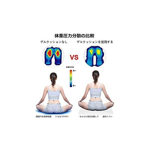 Serene freestyle 無重力クッション 2019最新 ゲルクッション 健康クッション 超通気 腰痛対策 両面使用可能 通気性抜群|suityuugekka|08