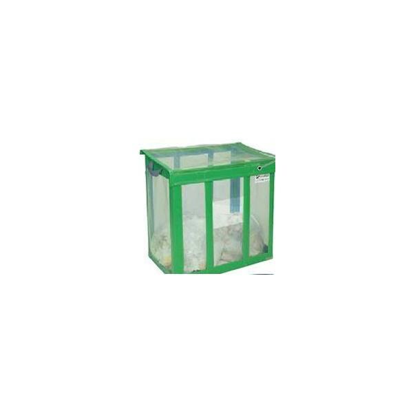 大きめのゴミ箱 屋外 テラモト DS-261-002-1 自立ゴミ枠 折りたたみ式 650L カラスよけ 網 屋外用ダストボックス 業務用ゴミ箱 大型 外置き カラス除け 猫除けに