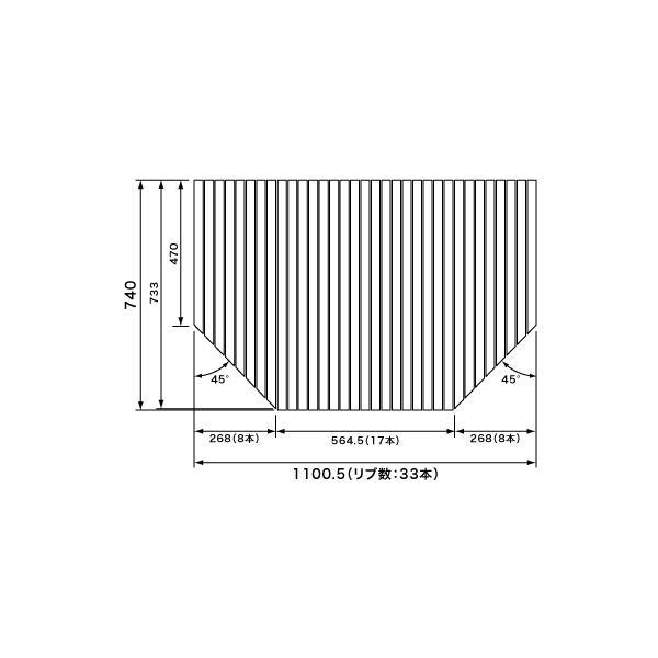 パナソニック 風呂フタ 巻きフタ(デッキ水栓あり):1150用 サイズ 1100×740 変形型